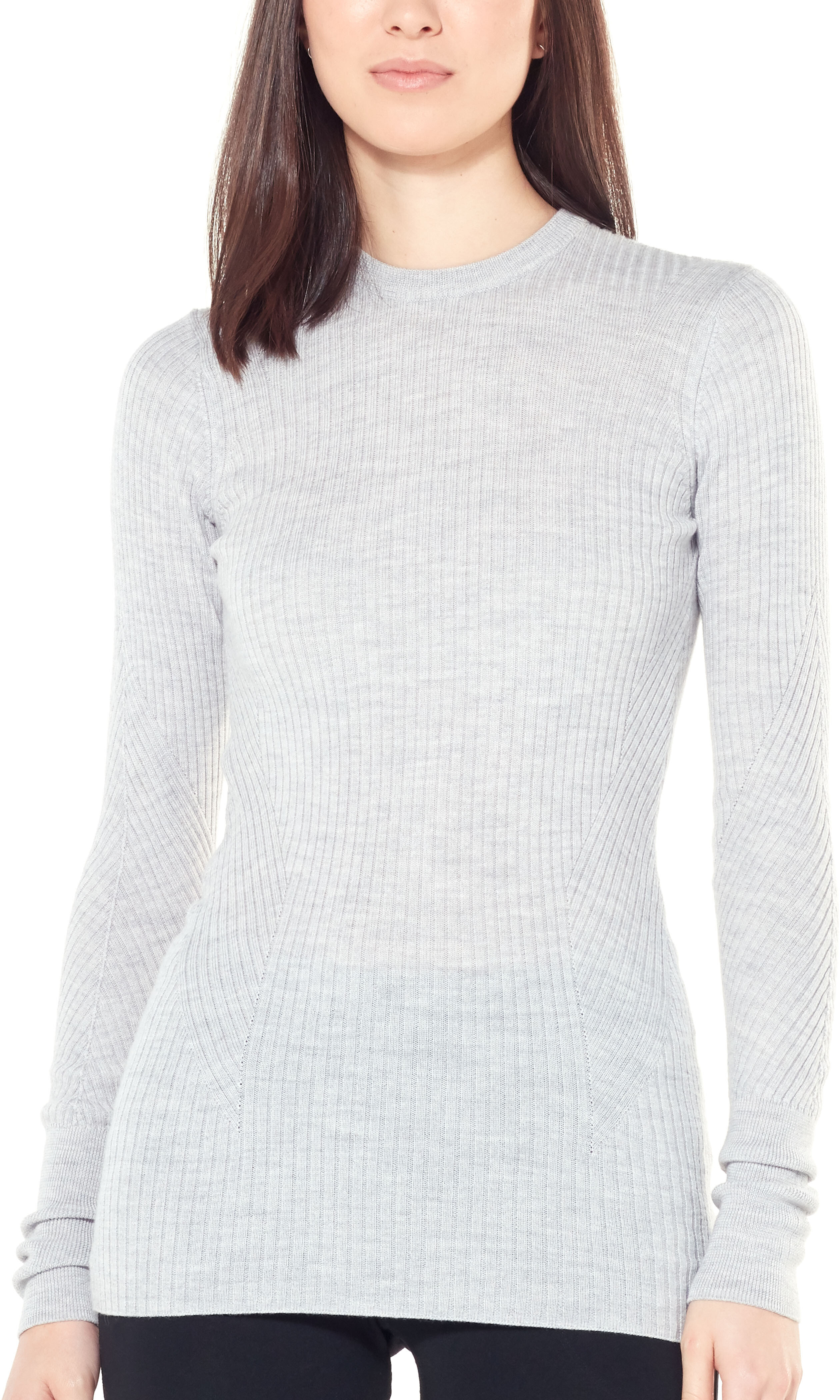 849ba7cfdb1 Icebreaker Womens Valley Slim Crewe Sweater Steel Heather